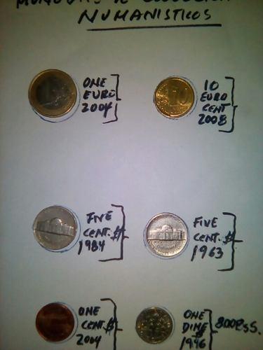 Vendo Lote De Monedas De Coleccion: 4 $ Eeuu Y 2 Euros.
