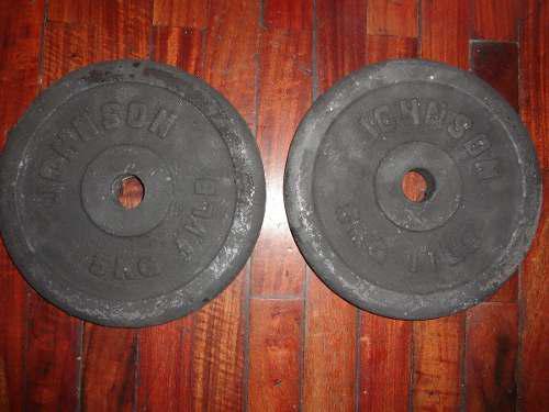 2 Discos Pesas De 5 Kgs Cada Uno Johnson