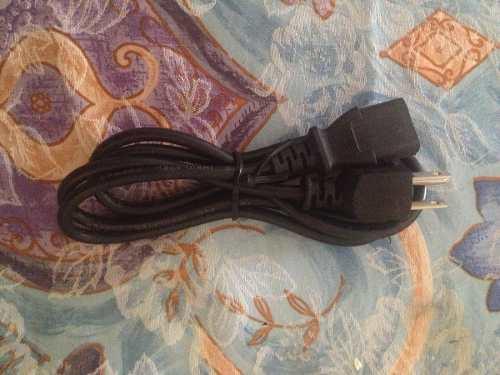 Cable De Poder Para Pc, Impresora, Monitor De 1.5mts