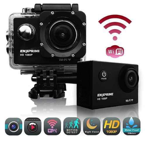 Cámara Deportiva Wifi Ultra Hd 1080p +accesorios