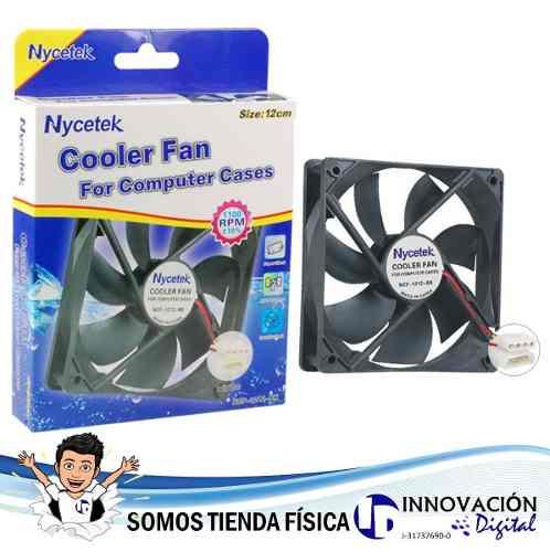 Fan Cooler Extractor Ventilador Pc 12 Cm 120 Mm Nycetek