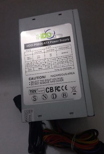 Fuente De Poder Hdd 600w Atx Conectores Sata