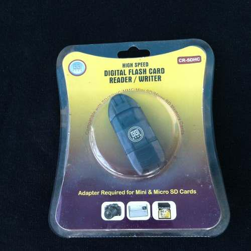 Lector Tarjetas Sd Memoria Micro Y Mini Sd Usb 2.0 Cable