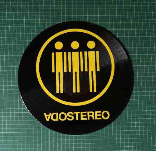 Logo De Soda Stereo Sobre Disco De Acetato