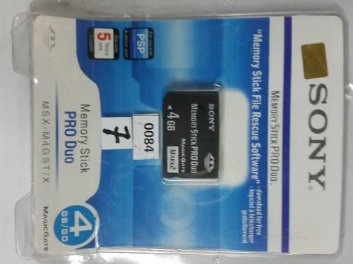 Memoria Memory Stick Pro Duo 4gb Mark 2