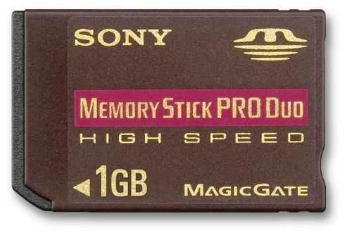 Memory Stick 1gb Sony Pro Duo High Speed Magic Gate K1