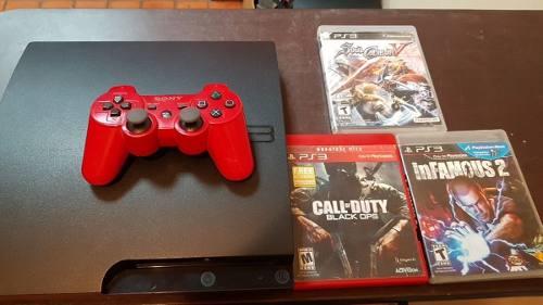 Playstation 3 Slim 160 Gb 3 Juegos 1 Control