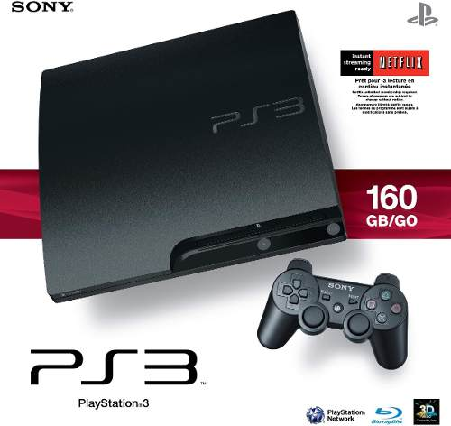 Ps3 Playstation 3 Slim (2 Controles + 3 Juegos Originales)