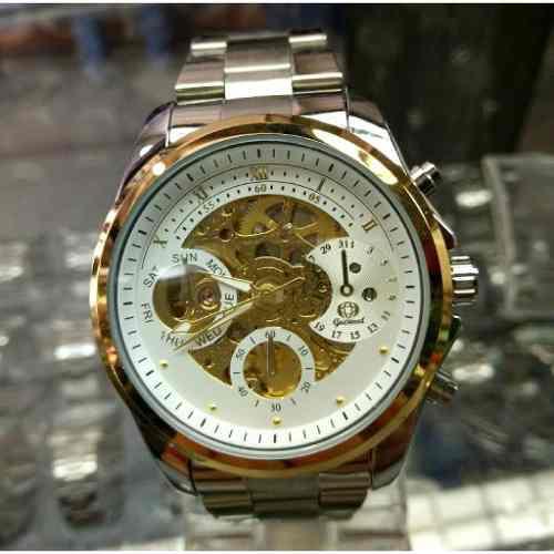 Reloj Automatico De Acero Inoxidable Para Caballero