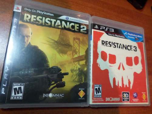 Resistance 2 Y 3 Ps3 (físicos) Perfecto Estado