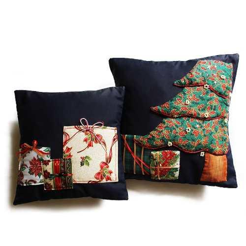 Set De 2 Fundas Para Cojines De Navidad - Árbol Y Regalos