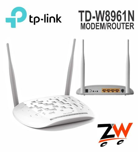 Modem Router Inalámbrico Adsl2+ N 300mbps Td-wn Wifi