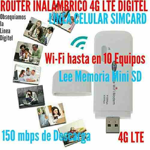 Router Wi-fi Y Modem Multibam 500 Gb Digitel 4g Lte Hotspot