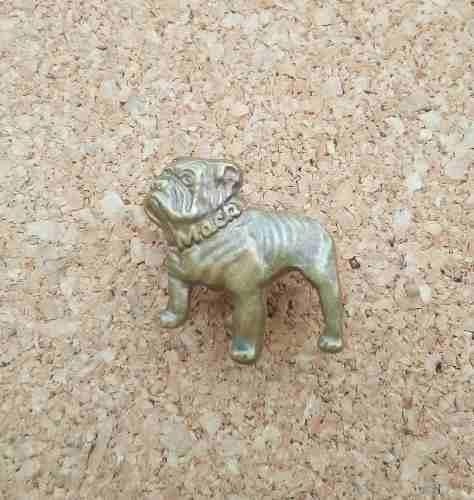 Viejo Pin Bull Dog De Mac En Bronce