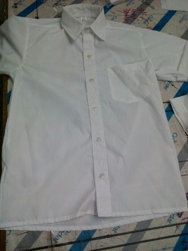 Camisa Escolar Blanca Talla 4 Y Talla 6