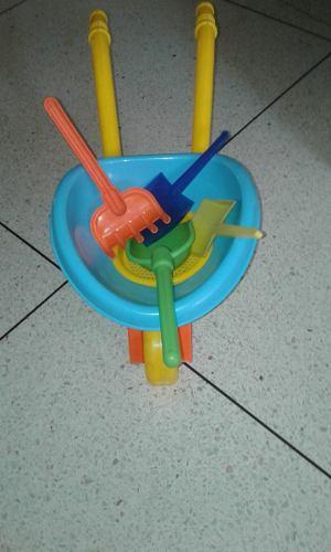 Carretilla De Playa Con Accesorios Para Niños