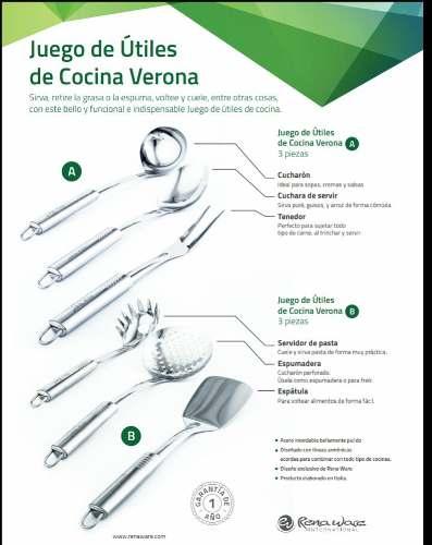 Juego De Herramientas De Cocina Verona