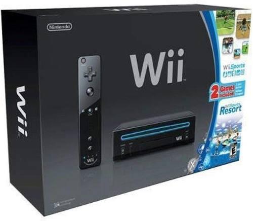 Nintendo Wii Black Resort Y A Su Vez Gamecube Chipeada