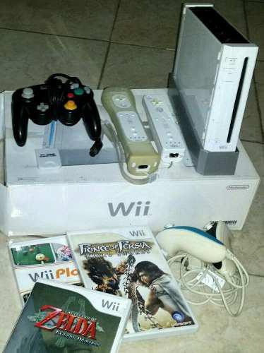 Nintendo Wii Controles Y Muchos Juegos