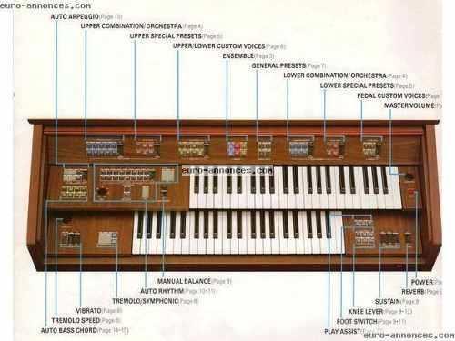 Organo Yamaha Electone Fe-50