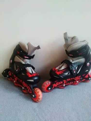 Patines Lineales Hot Wheels Para Niños