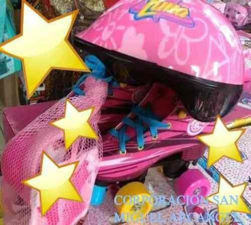 Patines Soy Luna 100%originales De Amazon, Casco, Kid !!¡!!