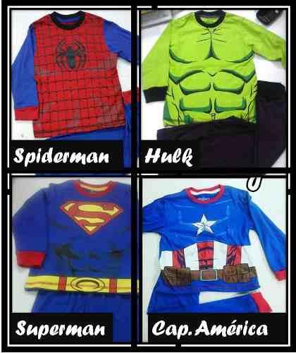 a128741cf8 Pijamas de super héroes spiderman 100 algodon