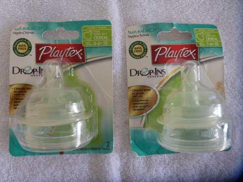 Set De 2 Tetinas De Silicona Marca Playtex Drop-ins System