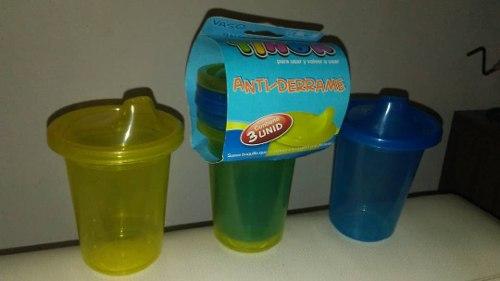 Vasos Plasticos Bebe Antiderrame Paquete 3 Uds Tinok