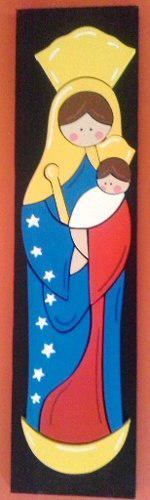 Virgen De Chiquinquira Venezuela En Madera Y Mas