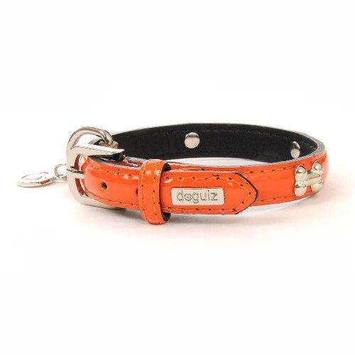 Collar Para Perro Doguiz Montecarlo Talla S Color Naranja