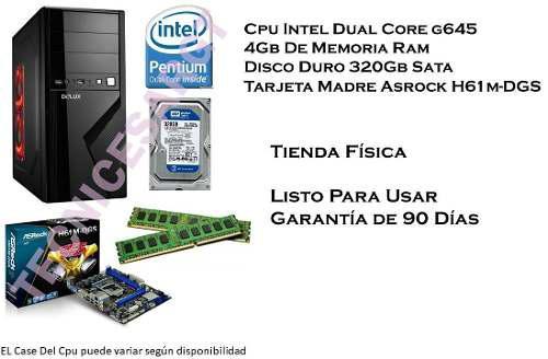 Cpu Computadora Intel Dual Core G645 4gb Ram 320gb Disco