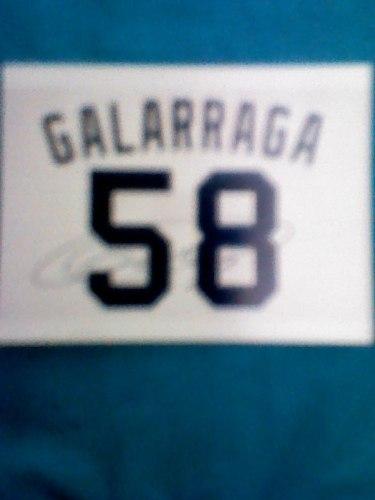 Foto Autografiada De Andres Galarraga Su No.58 De Camiseta
