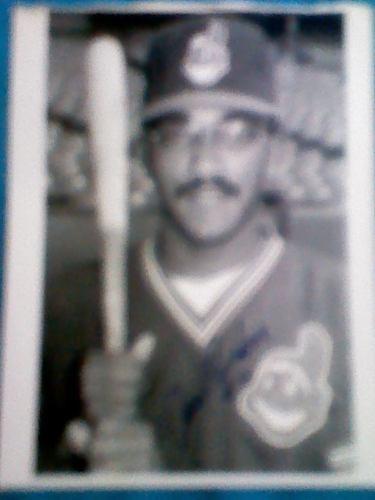 Foto Autografiada De Jose Escobar Con Cleveland