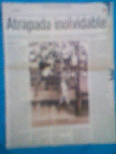 Hoja De Periodico Autografiada Por Victor Davalillo Atrapada