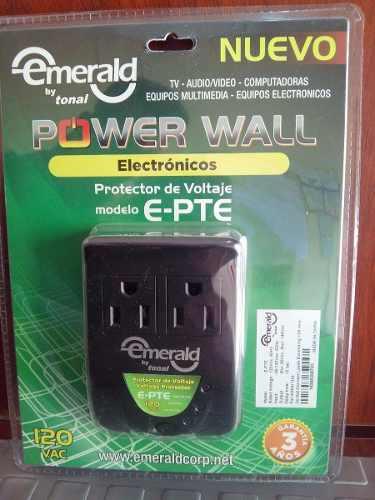 Protector De Voltaje Emerald E-pte 120v 2tomas Modelo Nuevo!