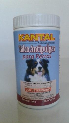Talco Antipulgas Para Perros Kantal 100g