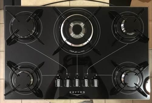 Tope De Cocina A Gas De 70 Cm Vitroceramica 5h. Keyton