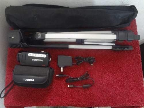 Video Camara Toshiba Camileo X400 Con Tripode Y Accesorios