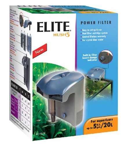 Elite Hush 5 Filtro De Cascada Hasta 20l Original Hagen Usa