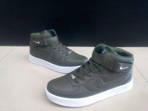 Botas Nike Air Force One Verdes Para Caballero 40 A 45