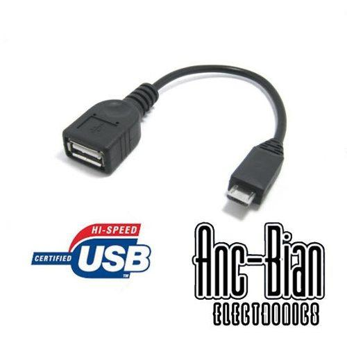 Cable Adaptador Otg Micro Usb Macho A Usb Hembra Tableta Xtc