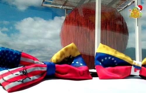 Corbatin Bowties Con Diseño De La Bandera De Venezuela