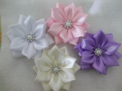 Pack De 3 Flores De Raso Grandes