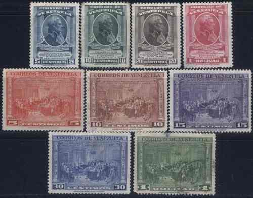 Serie Estampillas De Venezuela 1950 Francisco De Miranda