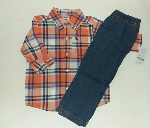 Carters Conjunto De 2 Piezas Original Camisa Y Pantalón 24m