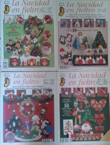 Coleccion Revistas Navidad En Fieltro