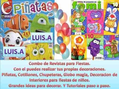 Combo De Revistas Para Fiestas. Globos, Piñatas,