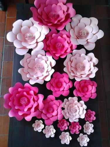 Combo Flores De Papel