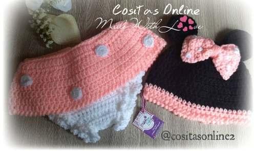 Conjunto Minnie Mouse Tejido A Crochet